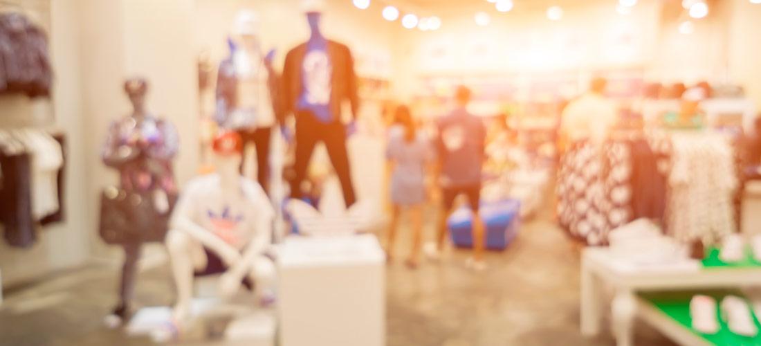 Tienda retail de ropa con música
